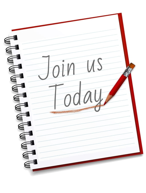 Join Us Today Text Written on Notebook